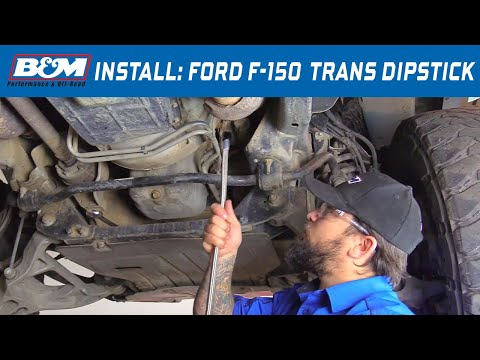 Install: 2010-19 Ford F-150 - B&M Locking Automatic Transmission Dipstick 22200