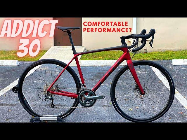 Видео Велосипед Scott Addict 30 Disc Wine Black
