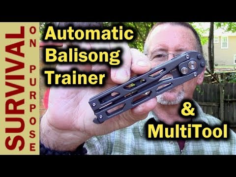 Artisan Kinetic Automatic Balisong Butterfly Knife Trainer & Multi Tool