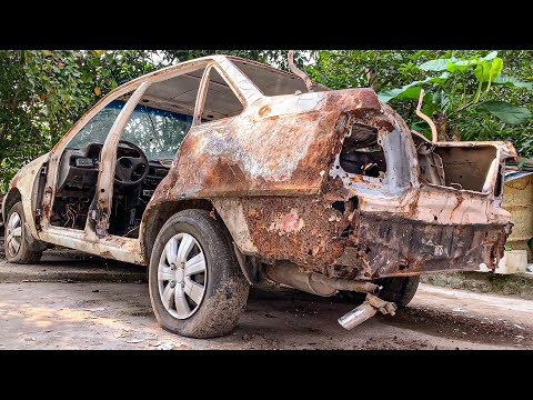 Restoration Car very rusty after 27 Years | Restore tear down old Car 1993s