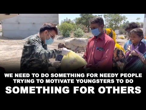 WE NEED TO DO SOMETHING FOR NEEDY PEOPLE | TRYING TO MOTIVATE YOUNGSTERS TO DO SOMETHING FOR OTHERS