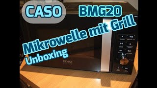 Caso BMG20 Mikrowelle mit Grill Unboxing