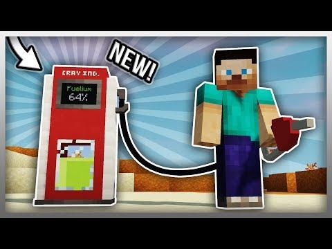 ✔️ Working GAS PUMP in Minecraft! (Vehicle Mod Update)