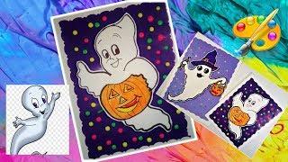 Рисунки на Хэллоуин  Как нарисовать приведение малыша  How to draw a ghost