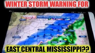 Winter Storm Warning For East Central Mississippi??