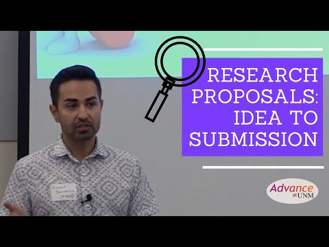 Advance at UNM Research Proposals: From Idea to Submission