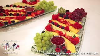 Fruit & Cheese Trays At Texas Restaurant