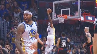 DeMarcus Cousins' First Bucket With Warriors In Debut! Warriors vs Clippers