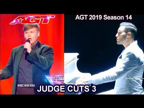 Patrizio Ratto pianist dancer – Jacob Norton singer | America's Got Talent 2019 Judge Cuts (видео)