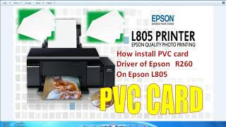 pvc card printing software install for epson l805 - C TECH