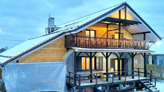 Смотреть онлайн Пример постройки загородного дома эконом-класса