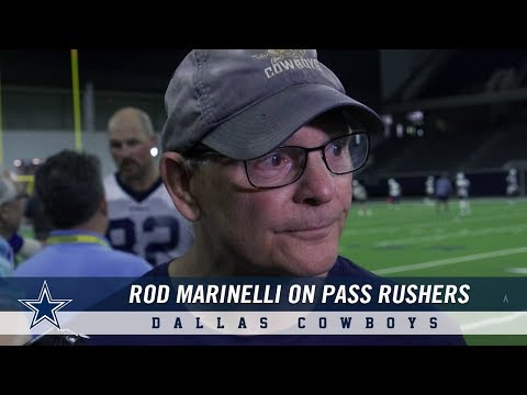 Defensive Coordinator Rod Marinelli on Dallas Cowboys Pass Rushers in Minicamp | Dallas Cowboys 2019