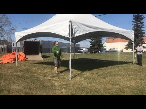 Setting Up 20x20 Marquee High Peak Pre-Owned Tent That We Just Purchased