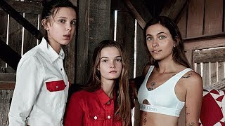 Millie Bobby Brown & Paris Jackson Fill the Kardashian Jenner Sisters' Shoes in New Calvin Klein Ad