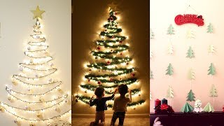 DIY Christmas Decor | DIY Wall Mounted Christmas Trees | Mytwolittlesunshines