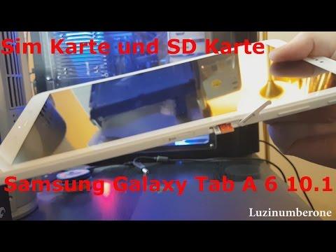 Sim Karte und SD Karte einlegen Samsung Galaxy Tab A 6 10.1 Unboxing