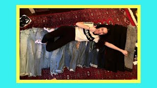 ORGANIZING MY CLOSET |  Revealing My HUGE Jean Collection! (Shopping Problem?!)
