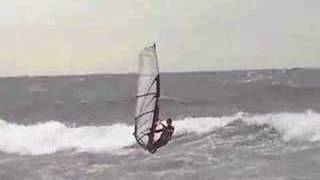 preview picture of video 'Windsurf con poniente en Castelldefels, Barcelona, Spain'
