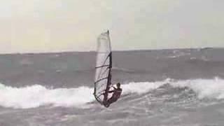 preview picture of video 'Windsurf con poniente en Castelldefels, Barcelona, Spain'
