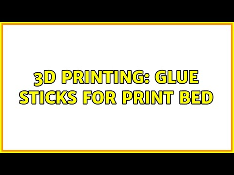 3D Printing: Glue sticks for print bed (2 Solutions!)
