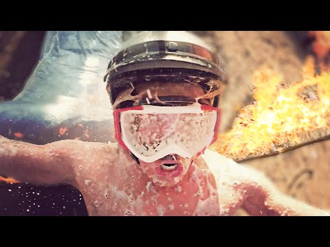 SLIP N SLIDE THROUGH A RING OF FIRE! (Don't try this) // @ScottDW