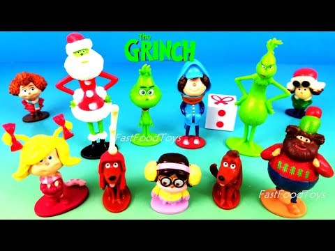 2018 DR SEUSS THE GRINCH MOVIE MY BUSY BOOKS STORY BOOK FULL SET 12 TOYS CHARACTERS UNBOXING