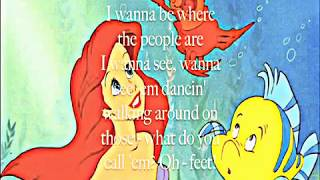 The Little Mermaid - Part of Your World (Lyrics)