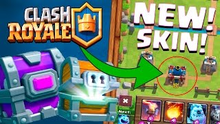 HOW TO UNLOCK NEW RED KING TOWER SKIN :: Clash Royale :: EPIC CHEST AND GIANT CHEST OPENING!