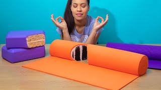 Can You Believe This Is Cake? Yoga Mat Cake for New Year's Resolutions! | How To Cake It