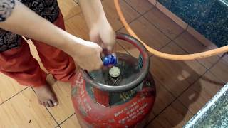 How to install gas stove with gas cylinder