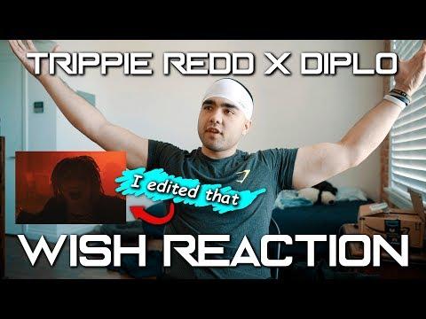 REACTING TO MY FIRST BIG MUSIC VIDEO   Diplo x Trippie Redd - Wish