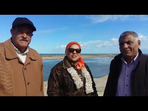 فاطمة الغرياني مع رئيس مدينة بلطيم فادي شميس ونائبة محمد الغتوري