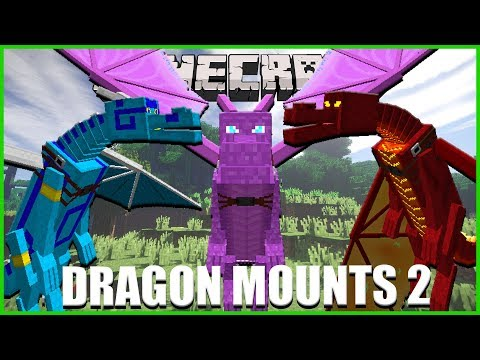 Minecraft - OVER 10 BRAND NEW DRAGONS ADDED TO MINECRAFT!! (DRAGON MOUNTS MOD 2)