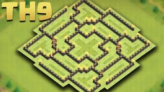 Clash of Clans - Town Hall 9 (TH9) Farming Base Jun 2016 [No One Attack Me] + Replays