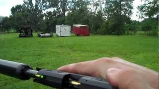 Shooting suppressed firearms at varied distances