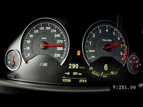 BMW M3 F80 2015 6-speed manual - acceleration 0-290 km/h