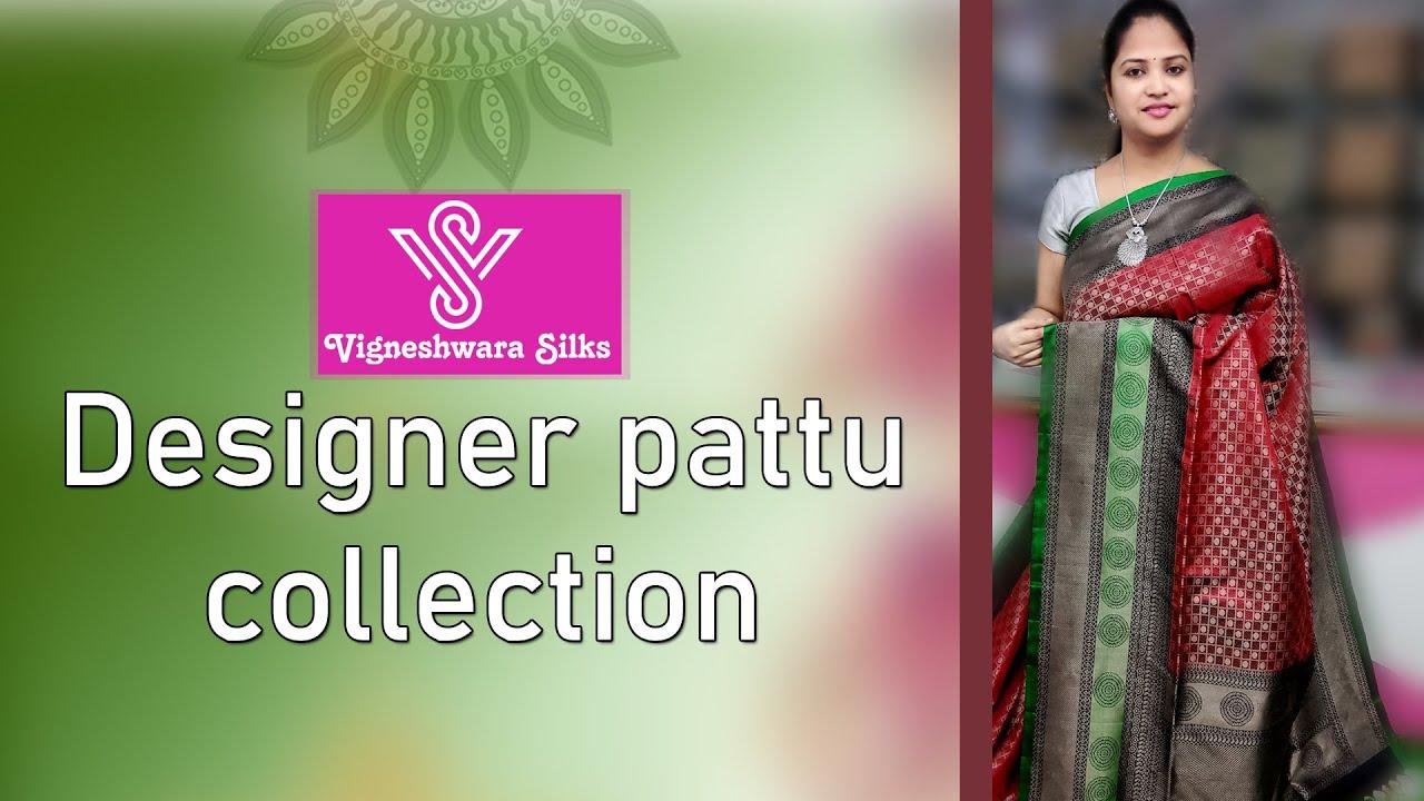"<p style=""color: red"">Video : </p>Designer Pattu Letest Collection   || Vigneshwara Silks || 2020-12-01"