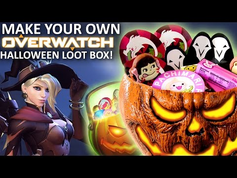 How to Make OVERWATCH HALLOWEEN Loot Boxes! Feast of Fiction S5 E22