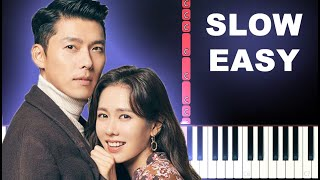 Ri Jeong Hyeoks (Crash Landing On You OST)-  Piano for brother (SLOW EASY PIANO TUTORIAL)