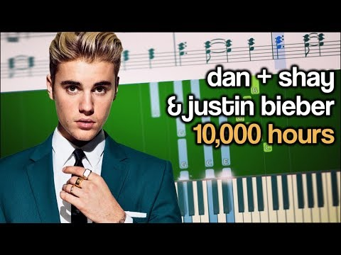 Dan + Shay & Justin Bieber - 10,000 Hours - EASY Piano Tutorial + SHEETS