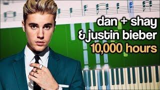 Dan + Shay & Justin Bieber   10,000 Hours   EASY Piano Tutorial + SHEETS