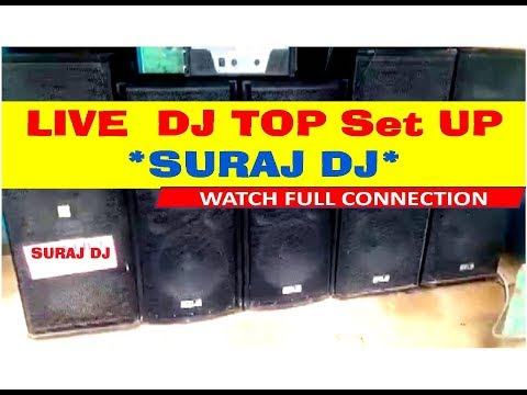 Download Live Set up DJ power amplifier speaker Mixer full set up with connection HD Video