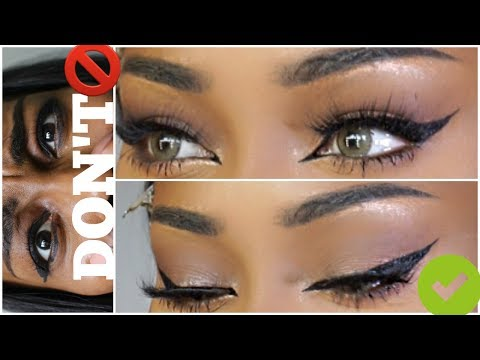 How To: Easy Winged Eyeliner For Hooded Eyes For Beginners
