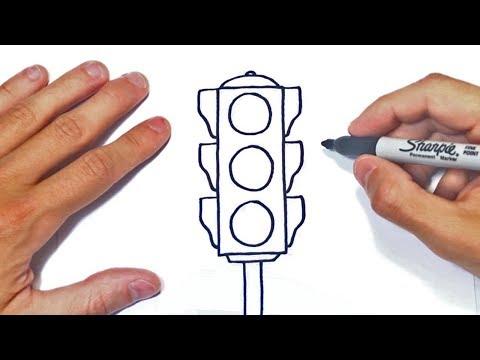 Cómo dibujar un Semaforo Paso a Paso | Dibujo de Semáforo