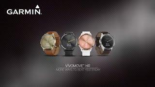 Смарт-часы Garmin Vivomove HR, E EU, Premium, Gold-Gold від компанії CyberTech - відео