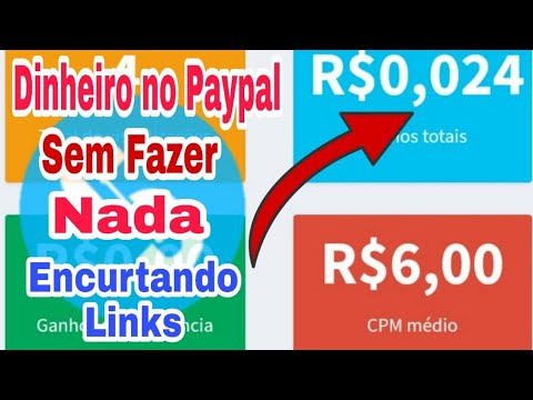 Site para Ganhar Dinheiro no Paypal sem Fazer nada Encurtando Links.