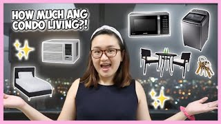 THE COST OF CONDO LIVING (Q&A About Living Away From Home/solo Living) | Thea Sy Bautista 🌸
