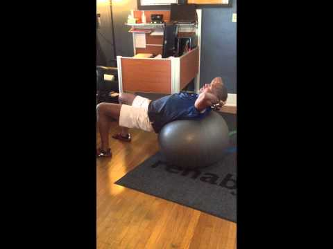 Dr. Steve's Favorite Abdominal Crunch with Gymball