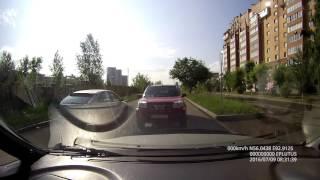 АвтоЛюба на встречке около Садов Мечты