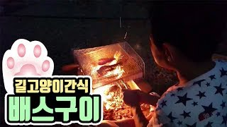 [작약꽃TV] 잡은 배스로 길고양이들에게 간식을 만들어주자!